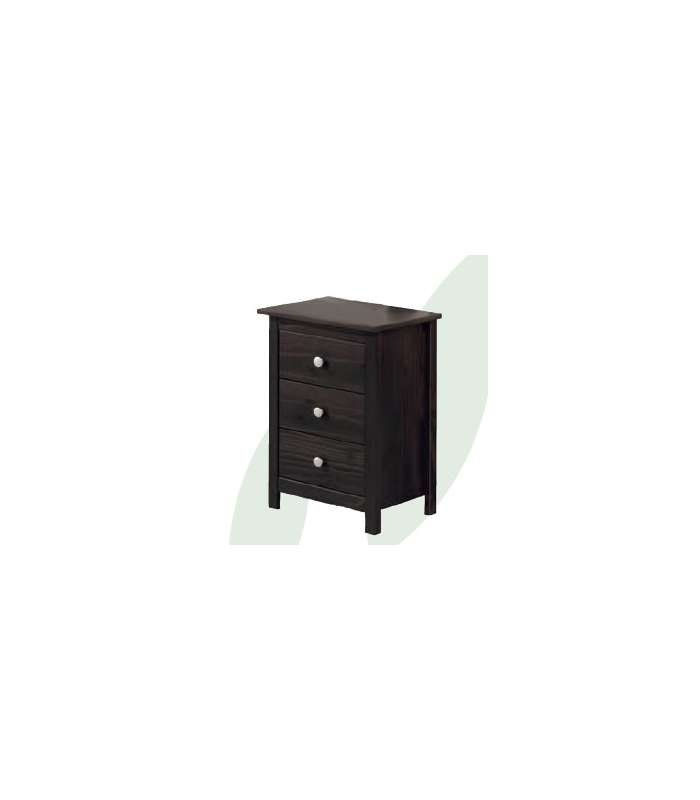 Table 3 Drawers Youth Bedroom Solid Wood Tabac
