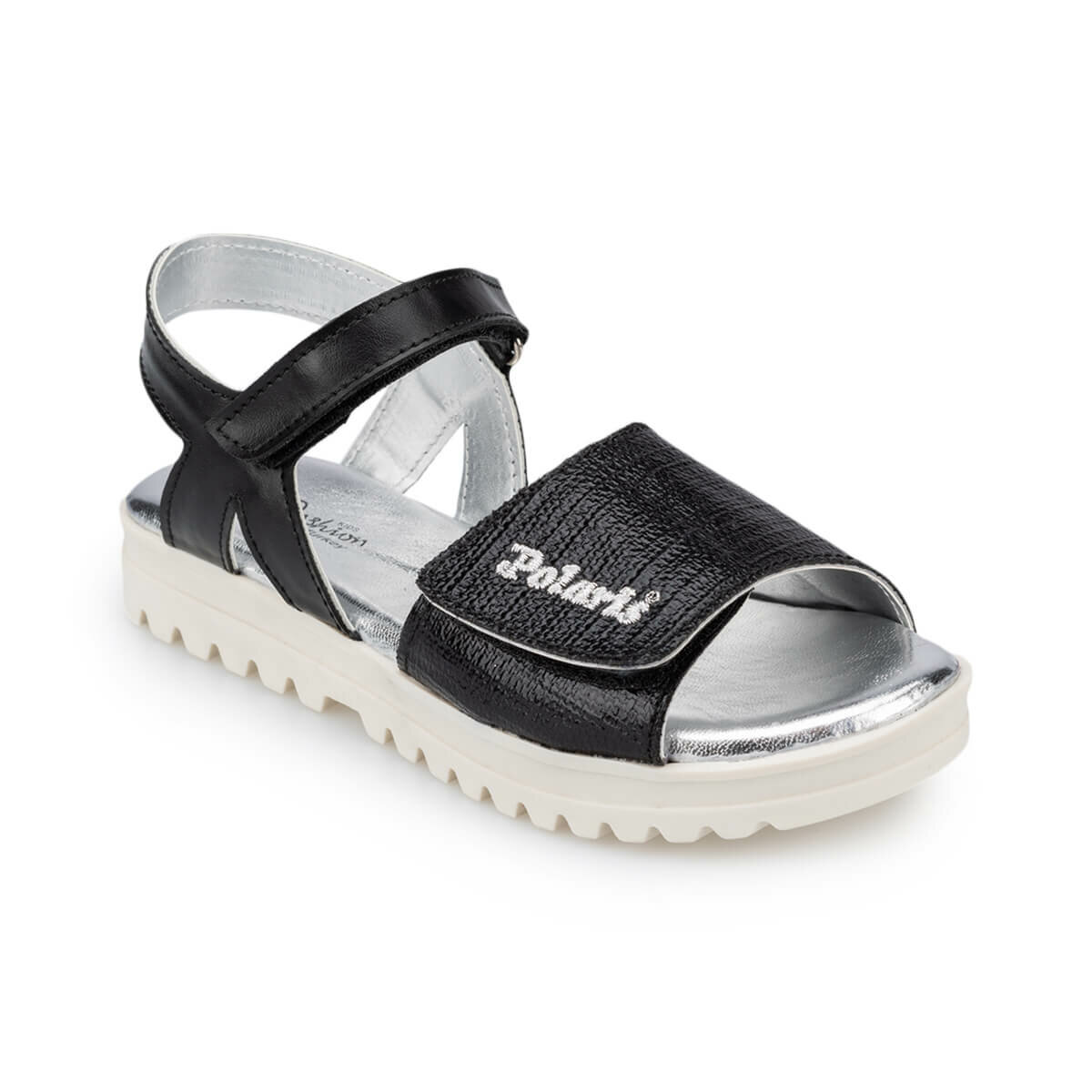 FLO 91.511380.F Black Female Child Sandals Polaris