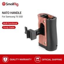Smallrig nato blackmagicためのデザインポケットシネマbmpcc 4 18k 6 18kカメラケージ/サムスンT5 ssd木製サイドハンドグリップ 2270