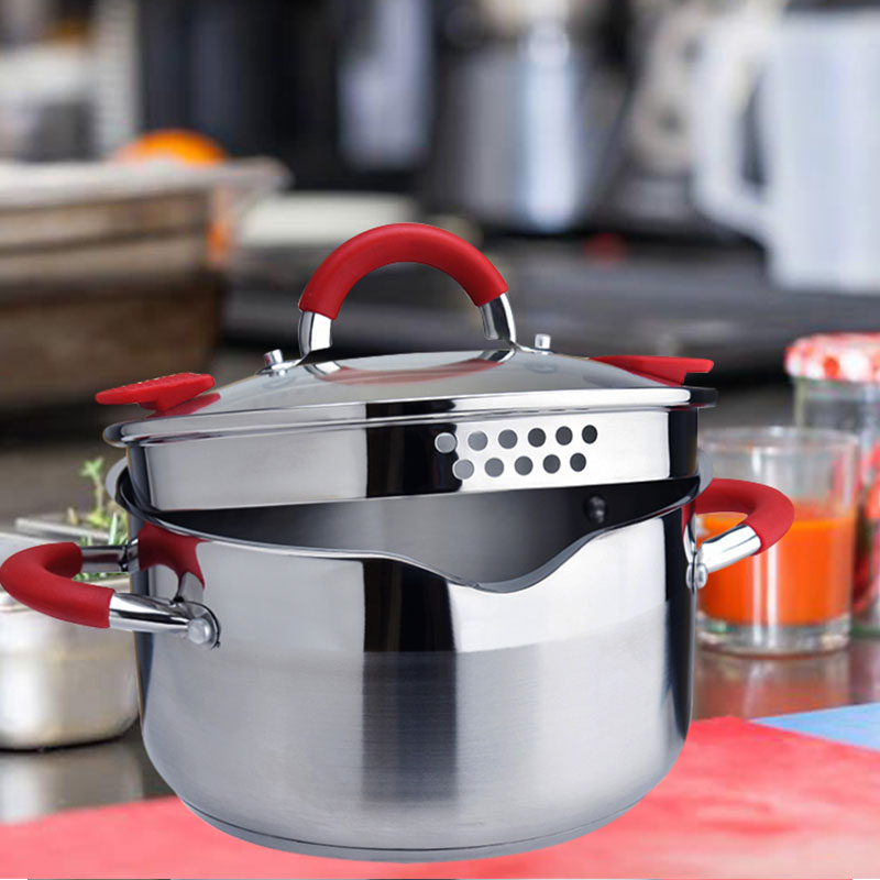 New Household 304 Stainless Steel Soup Pot Extra high with Double Bottom  and Thick Stew Pot Cookware Kitchen Pots Hot Pot|Soup & Stock Pots| -  AliExpress