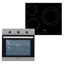 Combined Oven and Glass-Ceramic Hob BEKO BIE22101X+HIC63401T 65 L TouchControl Inox Steel Black