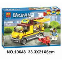 Cliente vip 10648 cidade carro série pizza venda van carro figuras brinquedos blocos de construção tijolos compatível legoinglys 60150 brinquedos