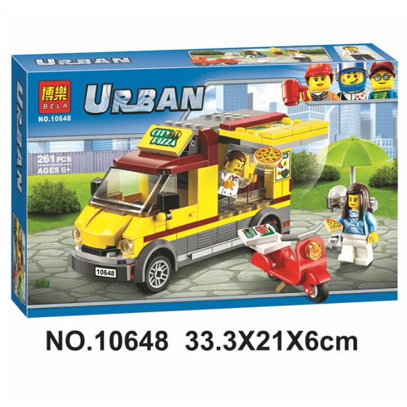 >VIP client 10648 City <font><b>Car</b></font> Series Pizza Selling <font><b>Car</b></font> Van Figures Toys Building Blocks Bricks Compatible <font><b>Legoinglys</b></font> 60150 Toys