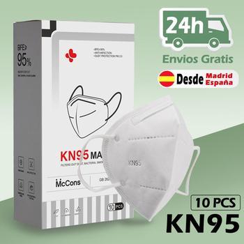 BEISK Máscarillas KN95 Protectoras Con 4 Capas de Filtración, Antipolvo PM2.5, Máscaras KN95 FACIAL, Envío de España