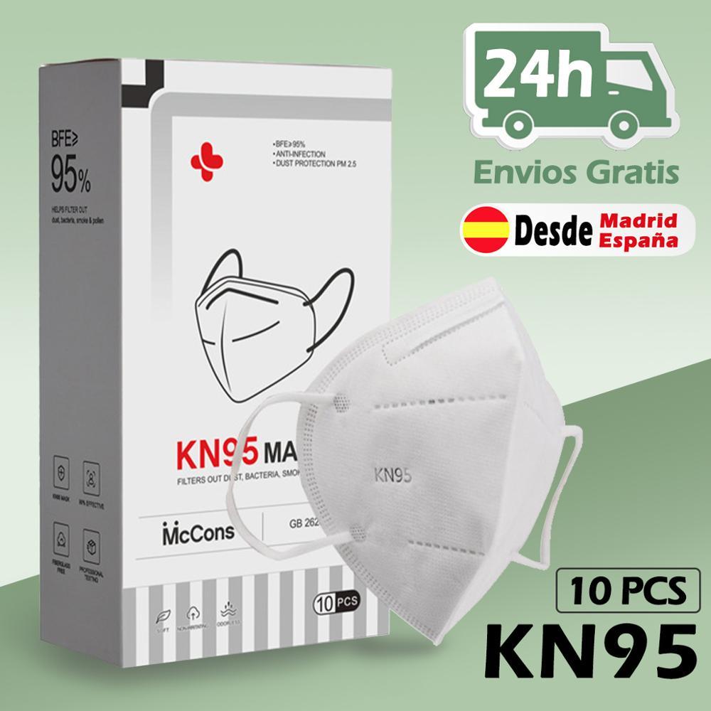 Beisk mascarillas kn95 protectoras com 4 capas de filtro, antipolvo pm2.5, máscaras kn95 facial, envío de españa
