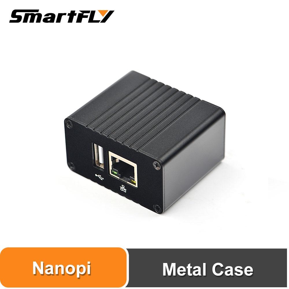 Smartfly FriendlyARM NanoPi NEO/NEO2/ZERO/NEO2 Black Demoboard Metal Case Heat Sink Outer Box Case