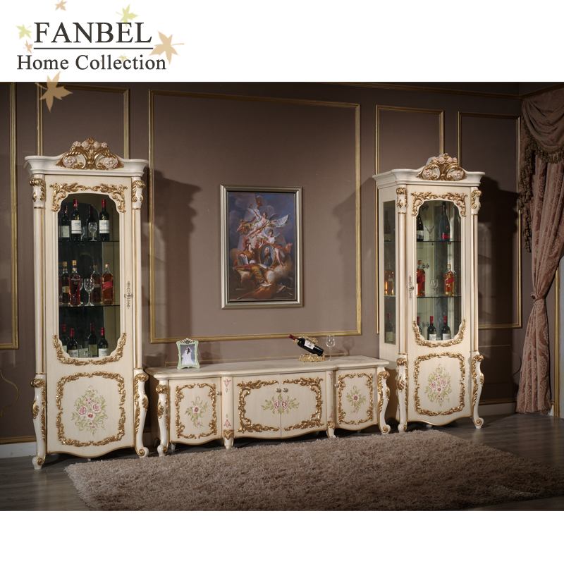 FANBEL Мебель Витрина 1-дв. ТВ подставка комплект гостиная классик