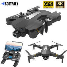 Profession K80 PRO GPS Drone 8K Dual Camera WIFI FPV Brushless Motor Foldable Quadcopter Long Flight Optical Flow RC Helicopter