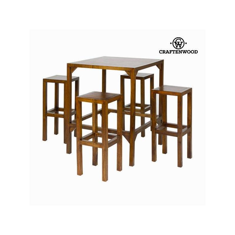 High Table With 4 Stools-Collection Franklin By Craftenwood