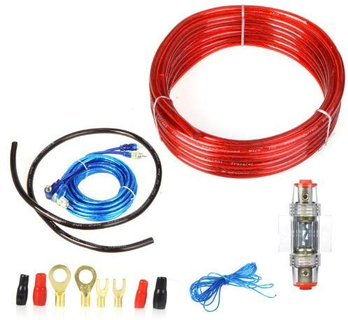 1 Piece 1500W Car Wire Harness Amplifier Subwoofer Audio Installation Kit 8GA Power Cable 60 AMP Fuse Holder