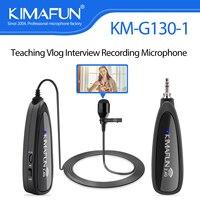 KIMAFUN-Micrófono de solapa inalámbrico Lavalier, Collar de voz externo, para teléfono inteligente, cámara, grabación de ordenador, youples, Vlogging