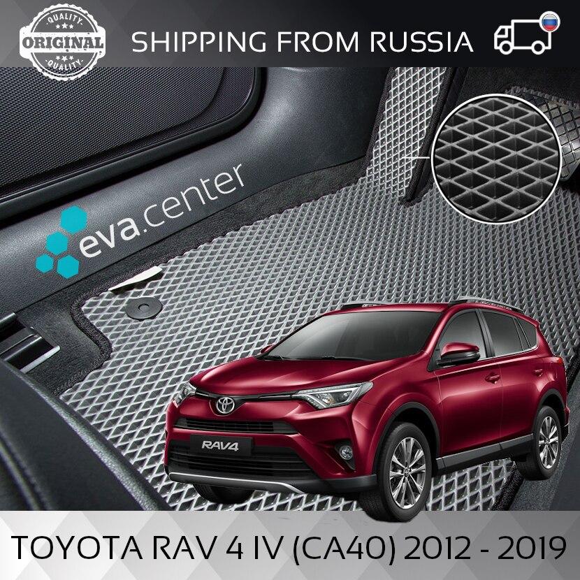 Tappeti per auto EVA per Toyota RAV 4 IV (CA40) 2012-2019 set di 4x stuoie e ponticello/Auto tappeto EVA