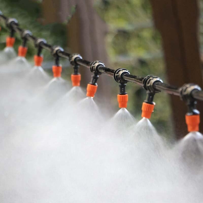 30m Automatische Micro Drip Bewässerung System Garten Bewässerung Spray Selbst Bewässerung Kits mit Einstellbare Tropf, Bewässerung kühlung-in Bewässerungs-Kits aus Heim und Garten bei