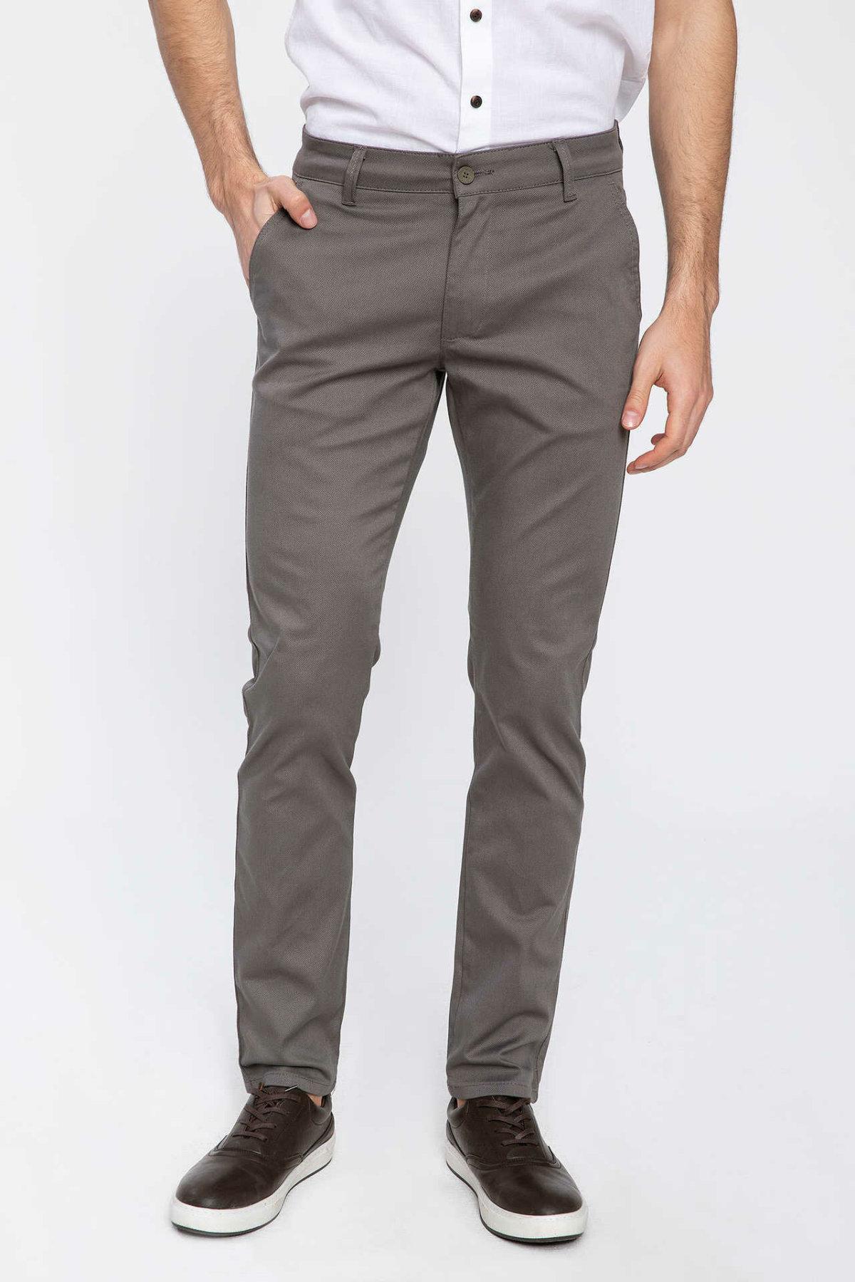 DeFacto Men Solid Fashion Cargo Pants Casual Trousers Straight Leisure For Men's Cotton Pant Autumn Spring-K0229AZ19SP