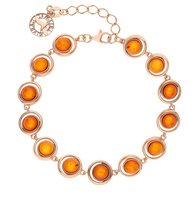 Silver Bracelet with amber sunlight sample 925