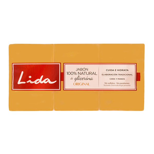 Natural Glycerine Soap Bar Lida (3 Pcs)