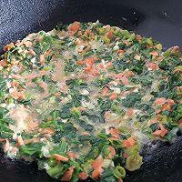 减肥必备菠菜胡萝卜鸡蛋饼的做法图解7