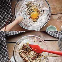 搅一搅就的超美味㊙️高纤燕麦饼干的做法图解2