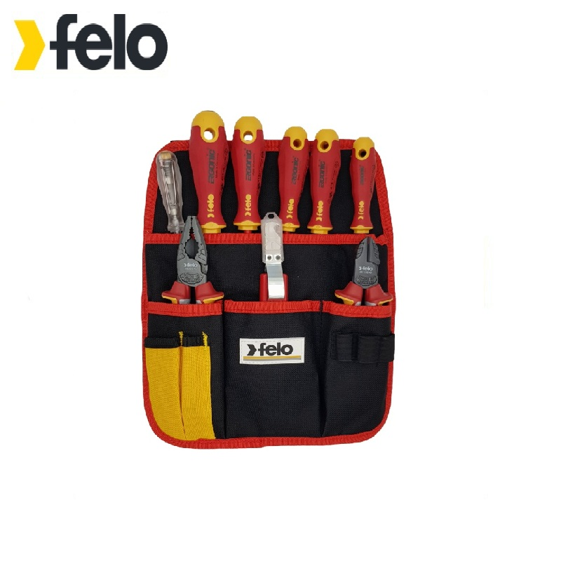 Felo Set of dielectric screwdrivers Ergonic with dielectric pasatizhami, side cutters, a knife for removing insulation deposition of zinc oxide by dielectric barrier discharge