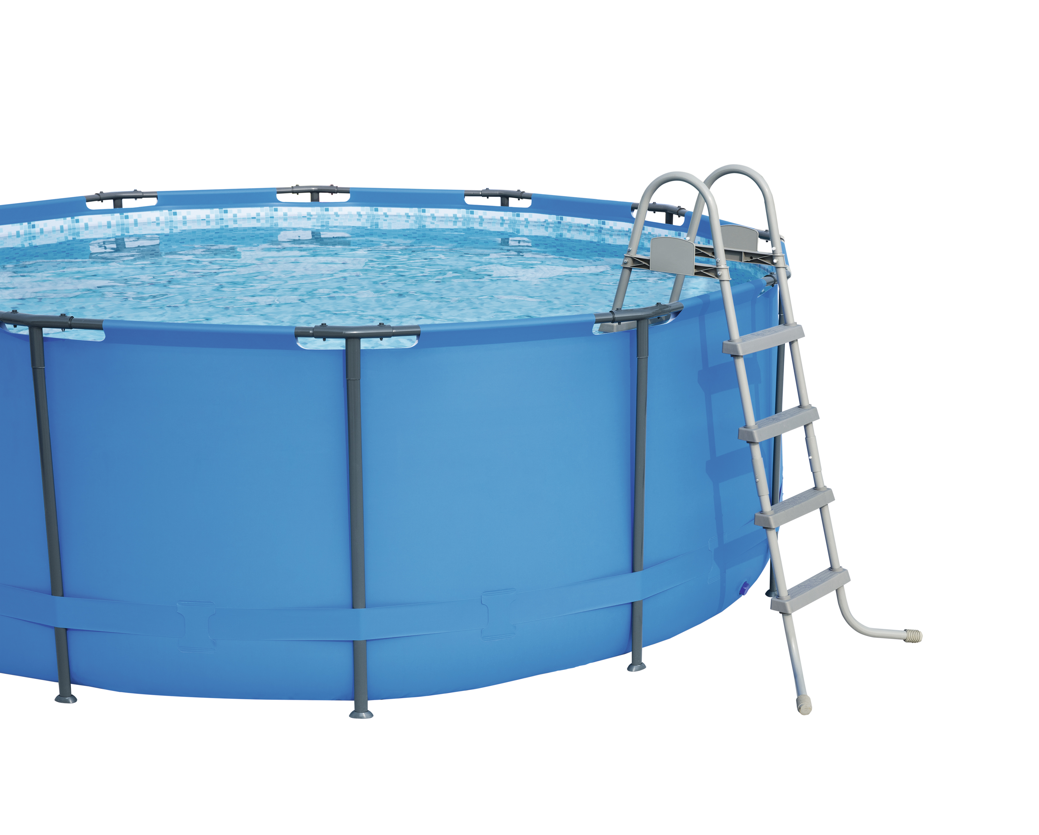 Ladder Pool 122 Cm, Accessory For Swimming Pool, Secure Entrance Into The Pool, Bestway, 58395/58336