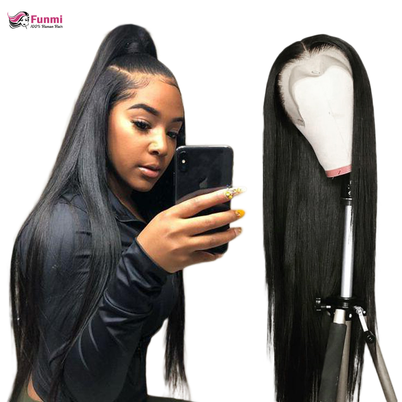 13x6 Lace Front Wig Straight Lace Front Human Hair Wigs For Black Women 180% 360 Lace Frontal Wig Pre-Plucked Remy Lace Wig