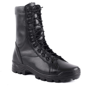 demiseason genuine leather lace-up black army ankle boots men high shoes flat military boots 0054/11 WA YDS