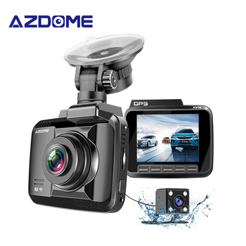 цена на AZDOME GS63H 4K 2160P Dual Lens Built in GPS WiFi FHD 1080P Front + VGA Rear Camera Car DVR Recorder Dash Cam Night Vision