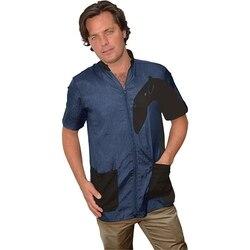 Халат парикмахерский Vico Cani халат синий VICO CANI синий/черный Размер S