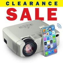 AUN miniproyector LED D40/W, dispositivo portátil para cine en casa, con sincronización de pantalla de teléfono inteligente