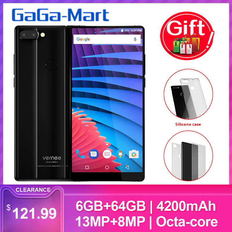 Vernee MIX 2 6 Inch Screen Phone Fingerprint 4200mAh 6GB RAM 64GB ROM 13MP+5MP Dual Rear Cameras + 8MP Glass Design smarpthone(China)