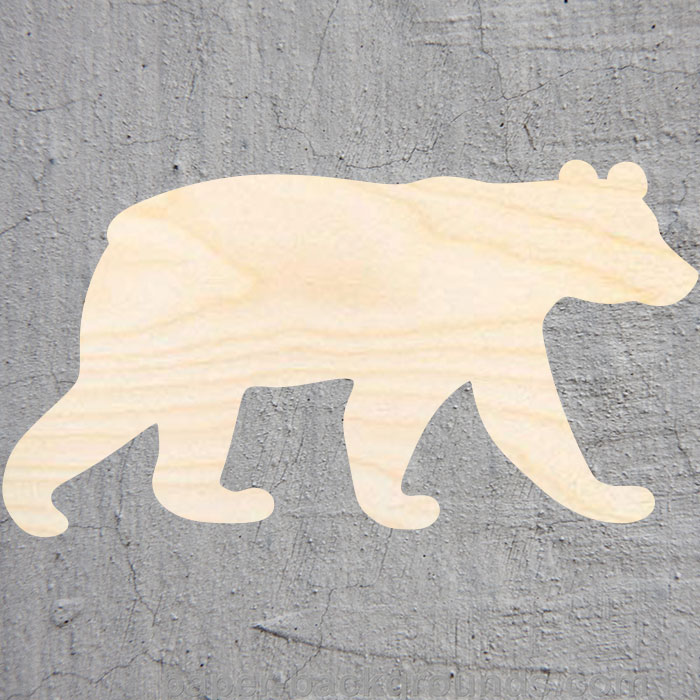 Black Bear  Silhouette Laser Cut Out Wood Shape Craft Supply Unfinished Cut Art Projects Craft Decoration Gift Decoupage Ornamen