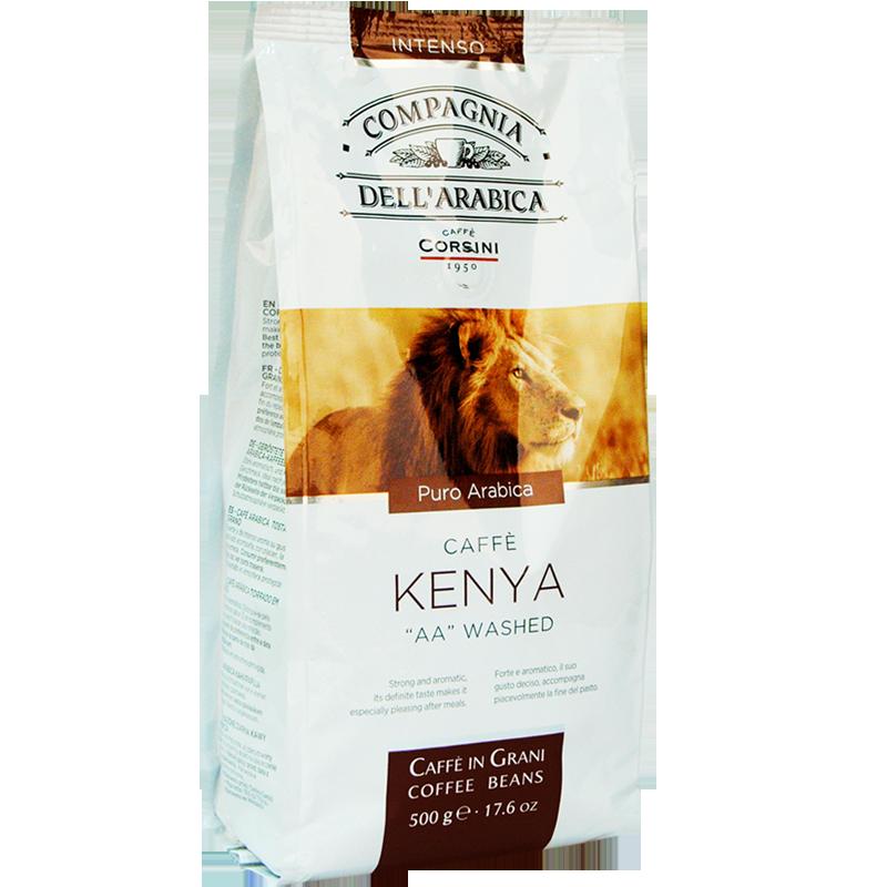 "Coffee beans Compagnia dell'arabica Kenya ""AA"" washed 500g"