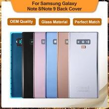 Recambio de carcasa de cristal para SAMSUNG Galaxy Note 8 N950 SM-N950FD Note 9 N960 SM-N9600, cubierta de reparación de batería trasera