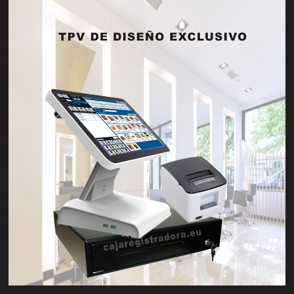 Pack Tpv Tactile Compact Fashion Design With Ticket Printer, Cash Drawer And Program Management
