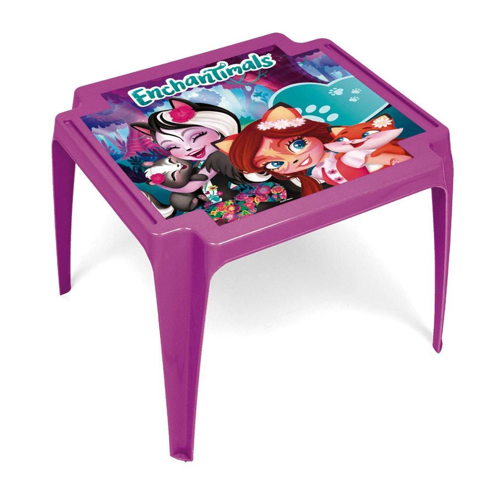 Table Plastic 50x55x44cm Mattel-Enchantimals