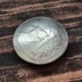 Кончо Чевертак КМ15. Диаметр 23мм. Кончо из настоящей монеты. На винте