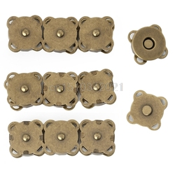 10PCS14/ 18mm DIY 마그네틱 스냅 지갑 걸쇠 클로저 금속 단추 가방 공예