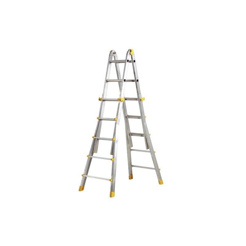 Telescopic Ladder Aluminum 4 + 4 Steps Profile 67