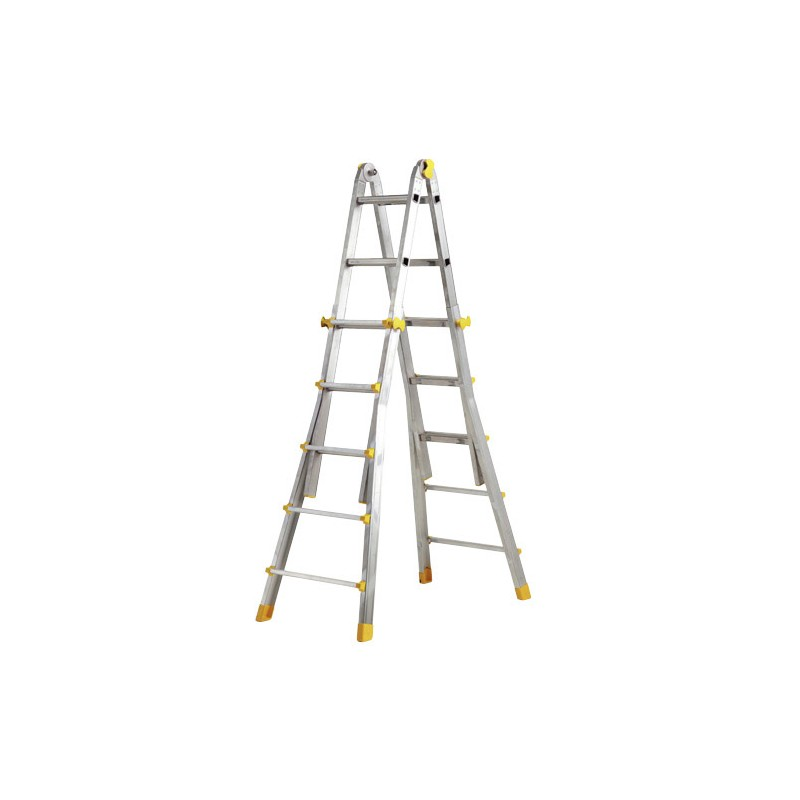 Telescopic Ladder Aluminum 5 + 5 Steps