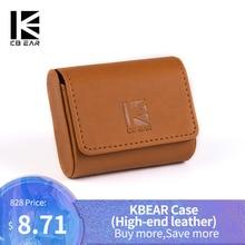 KBEAR-estuche de cuero de alta gama para auriculares, estuche portátil, bolsa de almacenamiento con logotipo para kb06 tri-i3