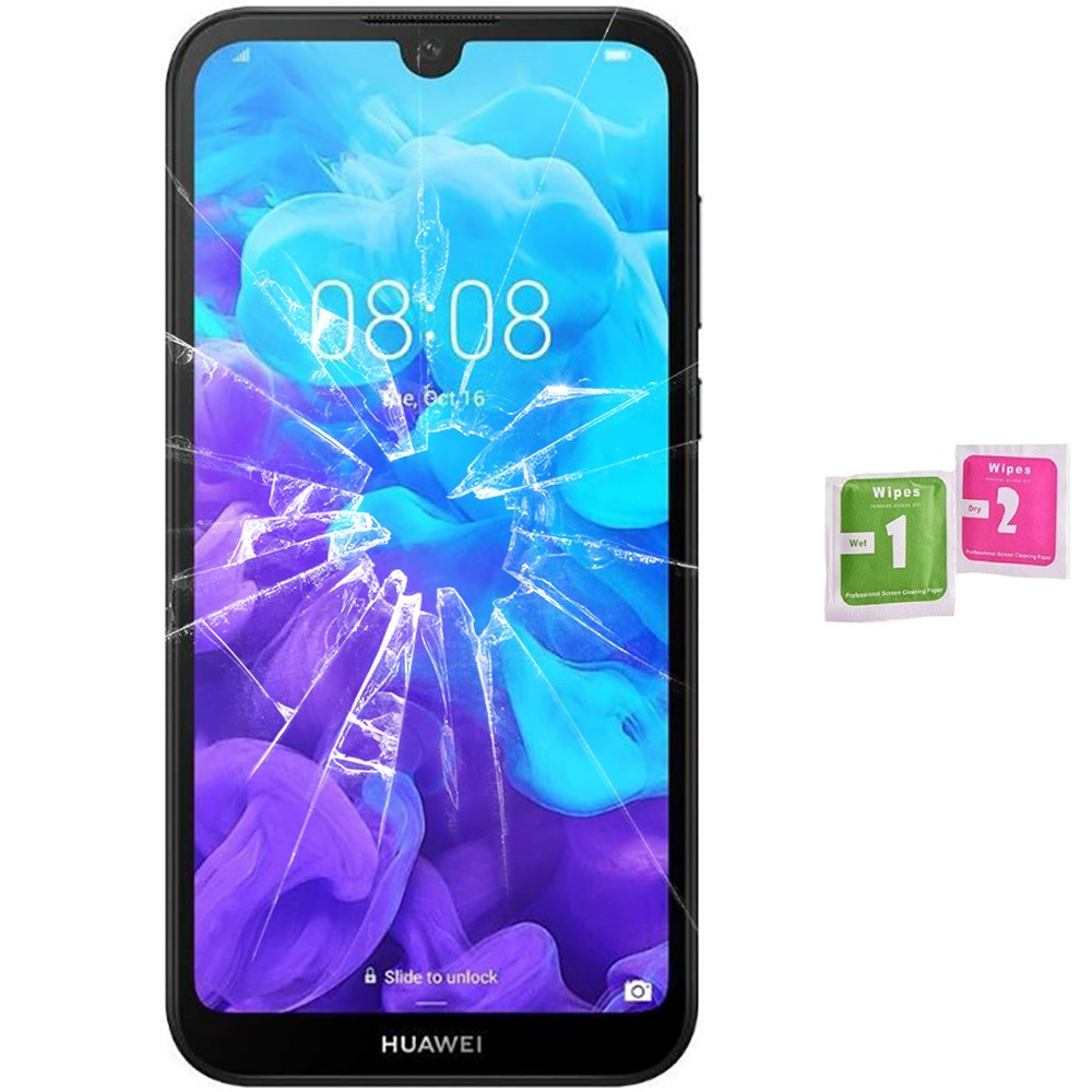 Protector Screen Tempered Glass For For Huawei Y5 2019 (Generico, Not Full SEE INFO) WIPES