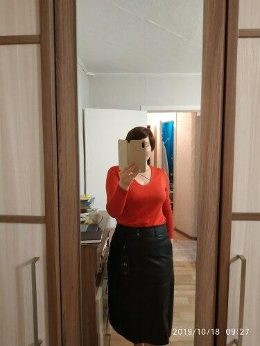 Women Winter Midi Skirt Spring Womens High Waist Pu Leather Skirt Faldas Vintage Saias Plus Size M 4Xl photo review