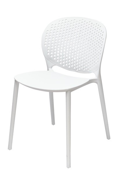 Chair BORNEO, Stackable, Polypropylene White *