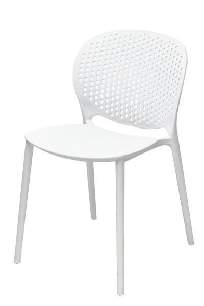 Chair BORNEO, Stackable, Polypropylene White *
