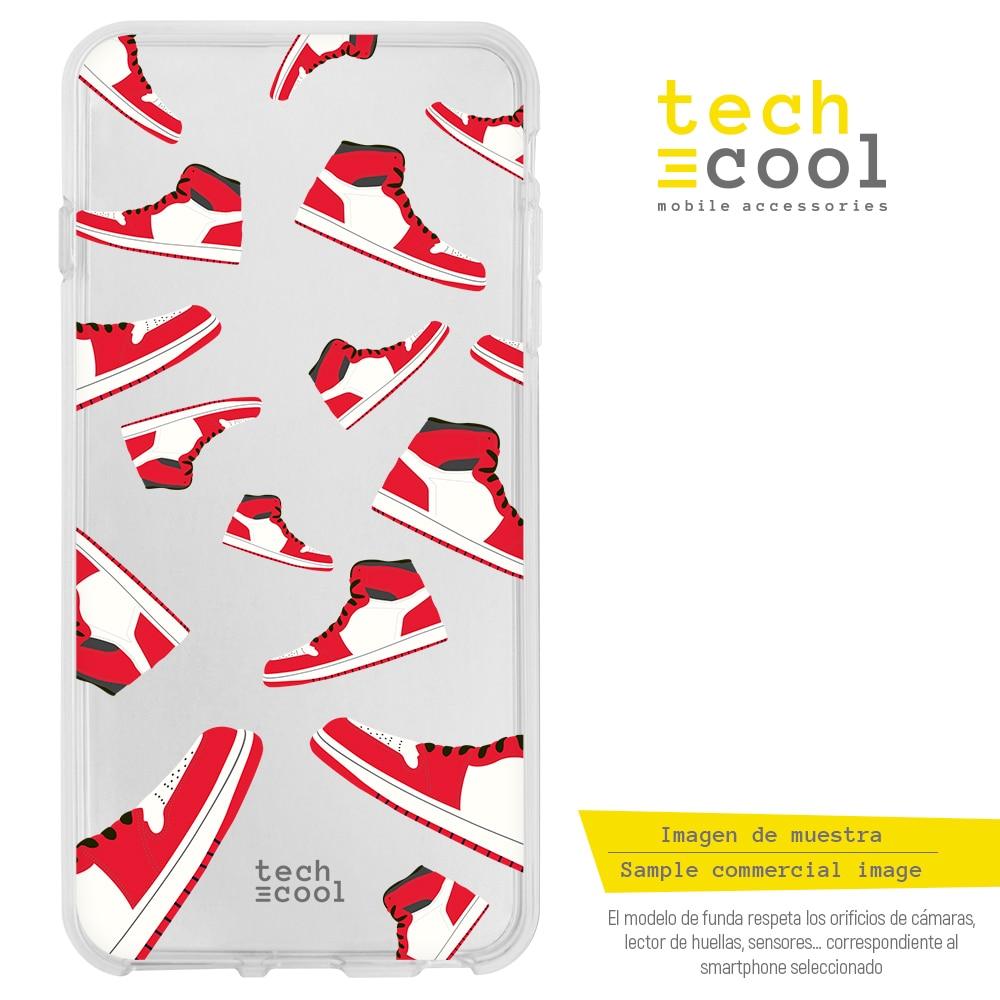 FunnyTech®Étui pour LG Silicone Q60 l Air Jordan pantoufles vers.1 transparent