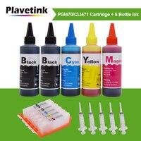 Plavetink 500 مللي صبغ الحبر + PGI470 CLI471 XL عبوة خرطوشة حبر لكانون PGI 470 CLI 471 XL PIXMA MG5740 MG6840 MG7740 TS5040