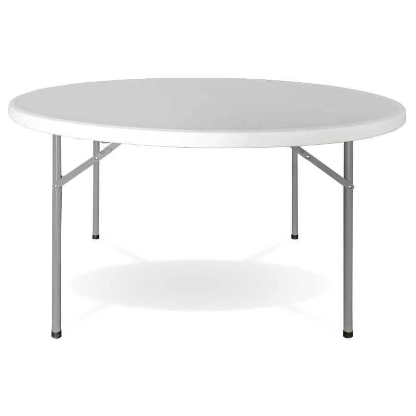 Round Folding Table DIAMETER 120cm White Caterers GH91
