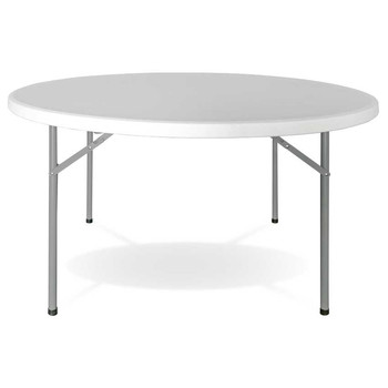 Round folding table Ø 120cm white Catering GH91