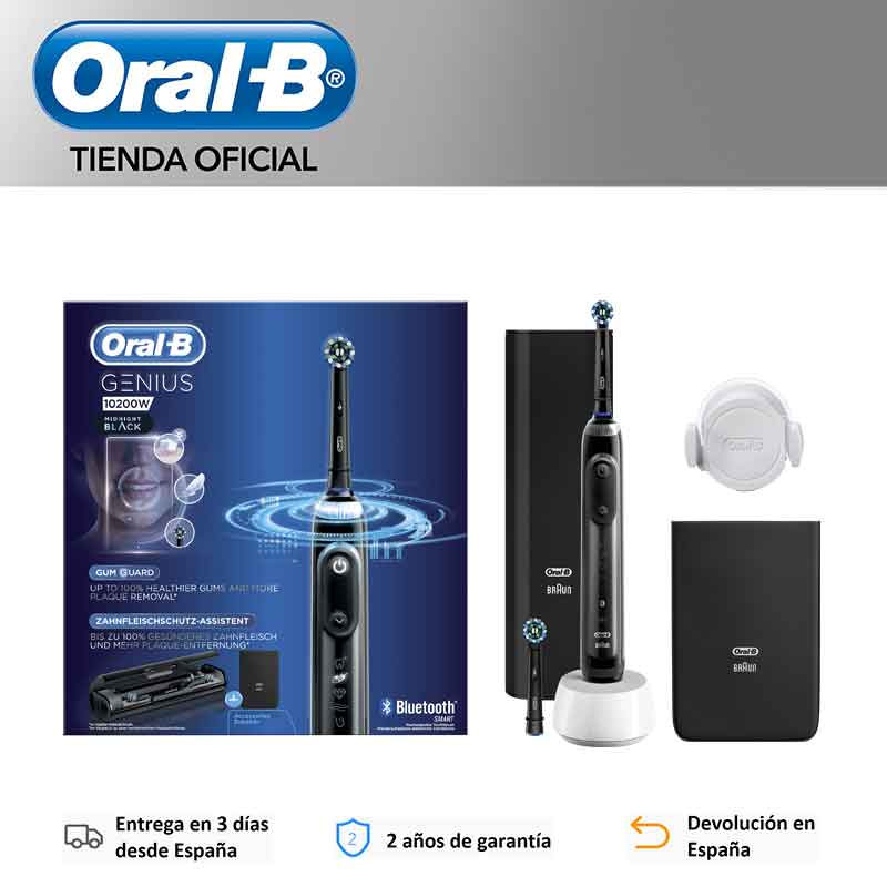 ORAL-B Genius 10200W Electric Toothbrush Rechargeable Black, timer PROFESSIONAL, SmartRing 360,14 days use image