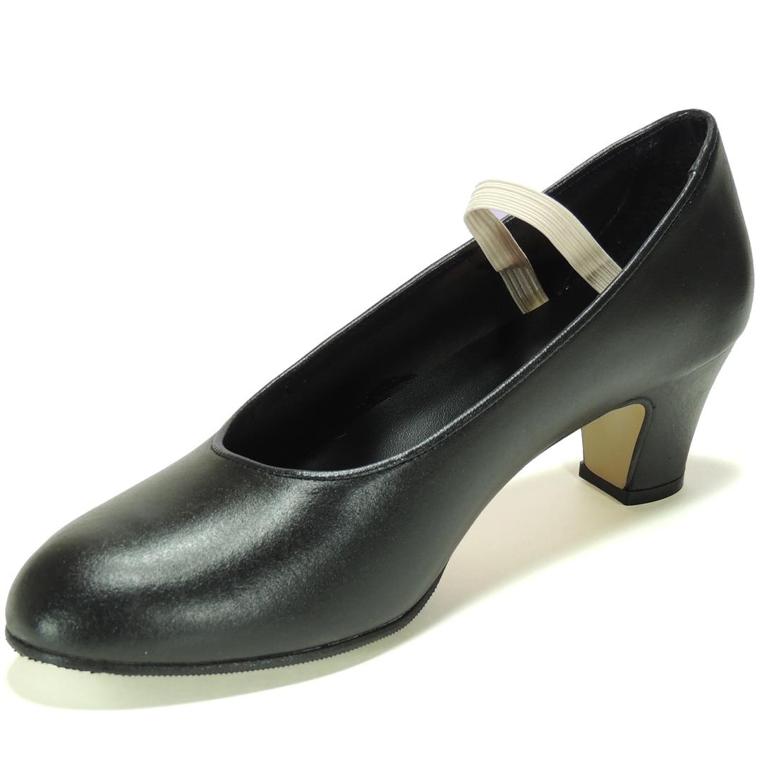 0016 Flamingo Flamenco Shoe Leather Heel Height 5,5 CM For Girl And Women